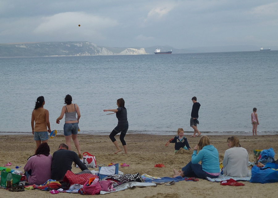 Doing what you please on Weymouth beach
