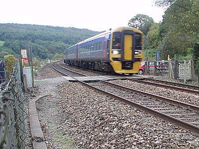 Level crossing at Claverton