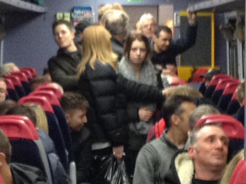 How many people fit on a train?