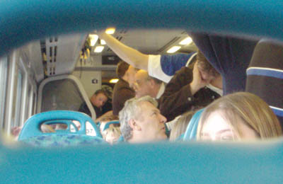 Overcrowded train - Trowbridge to Bath and Bristol