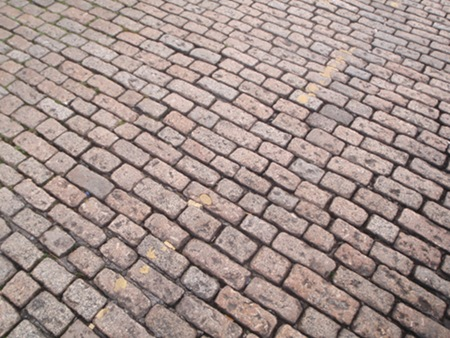 Cobbled street at Plymouth Barbican