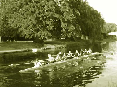 Old picture of river Cam