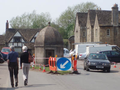 A Fibreglass lockup (jail) in the middle of the road, Lacock