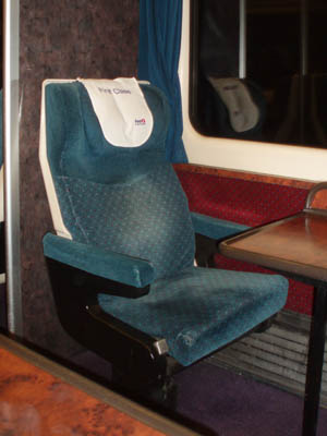 Old FGW First Class seat
