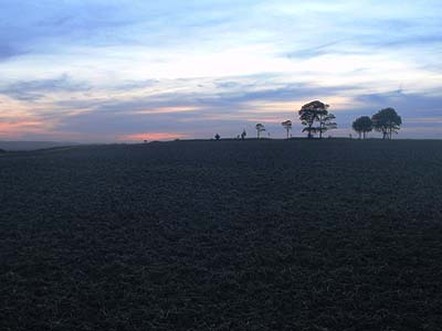 Sunset over Olivers Castle near Devizes