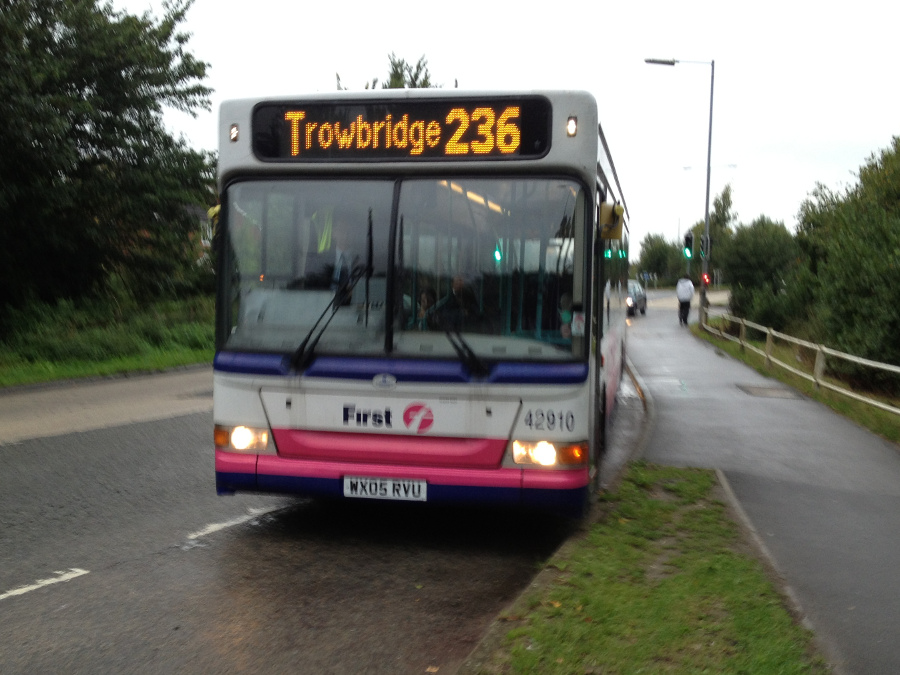 Route 236 - new Melksham to Trowbridge First Bus