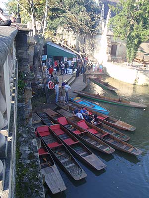 Punts on the Cherwell in Oxford