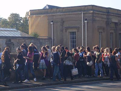 Crowds in Oxford