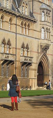 Photographing Christs College, Oxford