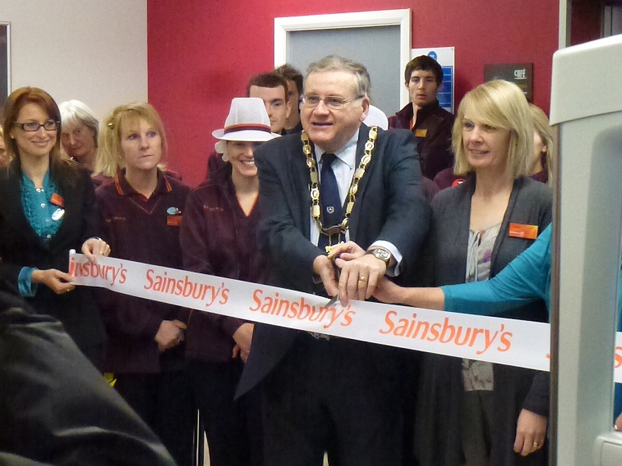 Opening Sainsburys extension