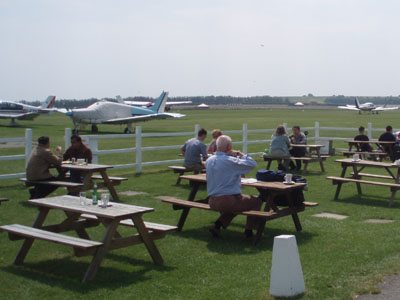 Lunch at Old Sarum Airfield