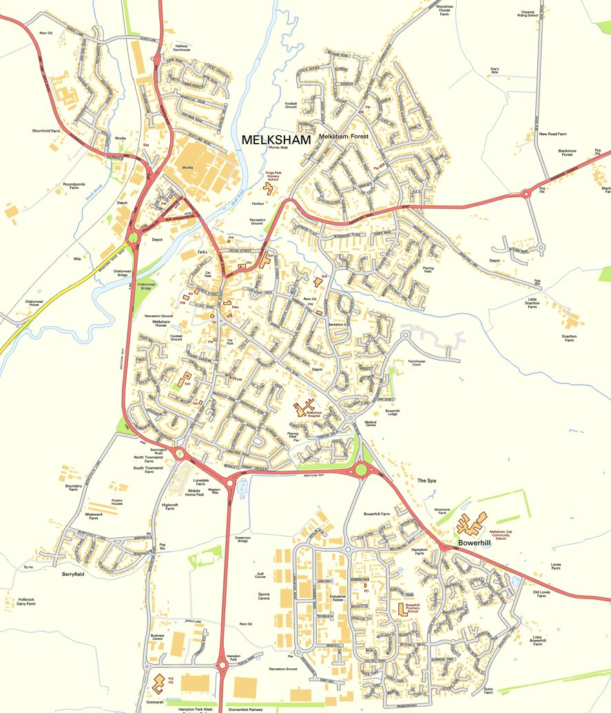 Map of Melksham