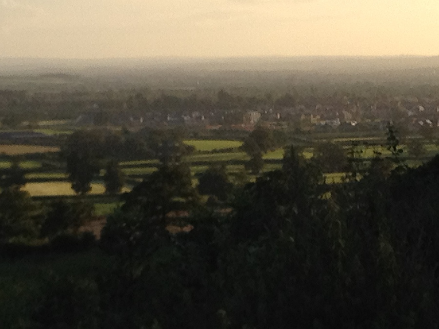 View over Melksham from Sandridge Hil