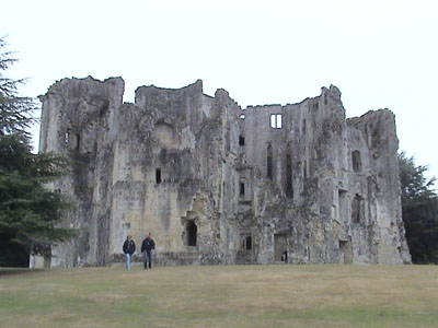 Old Wardour - rear of castle