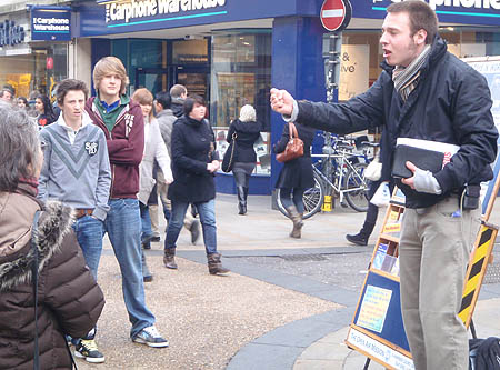 Preaching in the street
