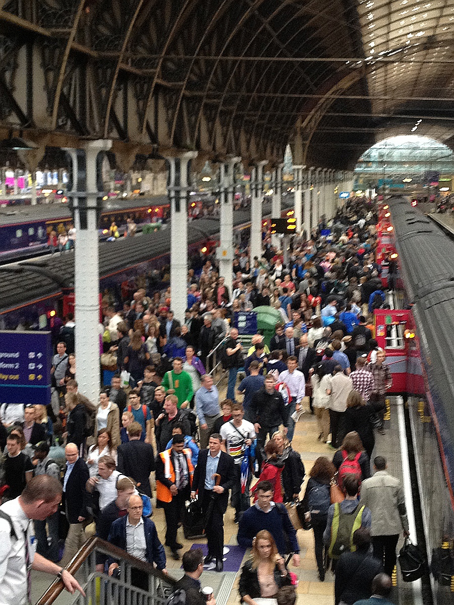 Busy Friday at Paddington