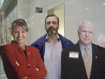 from left to right -John Mccain, Graham Ellis, Sarah Palin