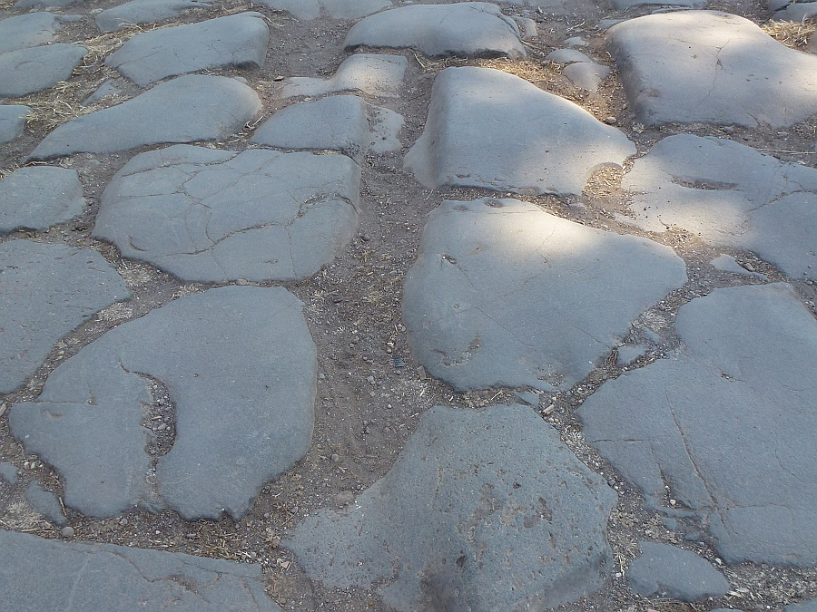 Roman Cart Tracks in Ostia