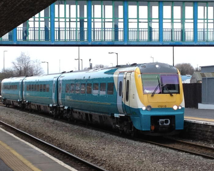 Arriva trains Wales train arrives in Neath