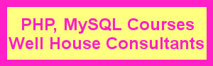 PHP and MySQL courses - UK