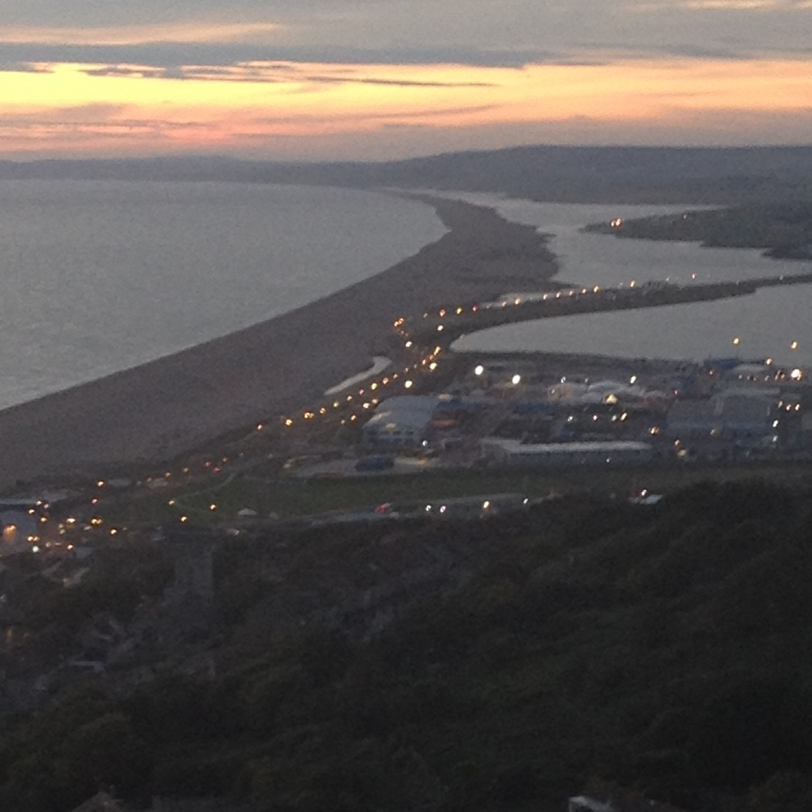 Chesil Beach from Portland Heights