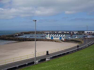 Beach and harbour