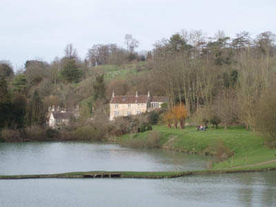 Prior Park, Bath - the lake and cottage