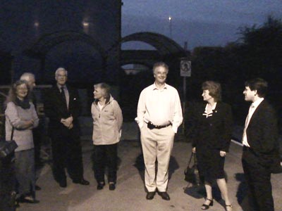 Duncan Hames (right) at Melksham Station, September 2006