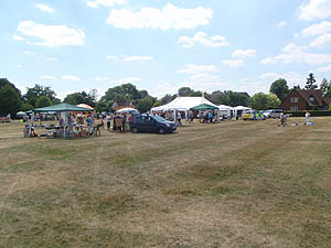 Poulshot Village Green on Fete day