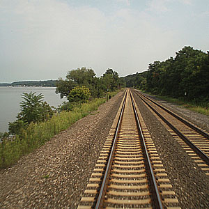 The Tracks to Albany beside the Hudson