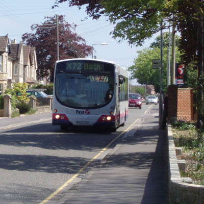 Bus from Well House Manor, Melksham, to Box and Bath