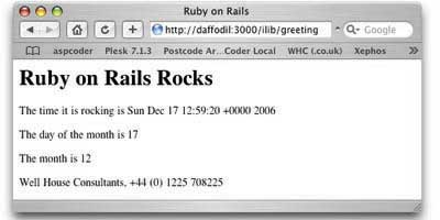 Ruby on Rails example