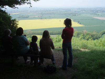 The view from Roundway Hill Covert
