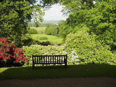Bowood - the view from the Mausoleum