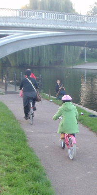Beside the river Cam - Taking outthe Children