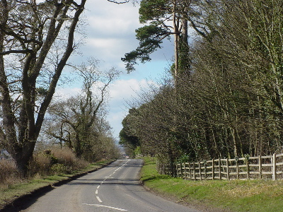 A Wiltshire road just outside Melksham