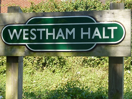 Station sign, Westham Halt