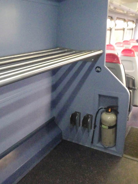 Cycling Racks in train