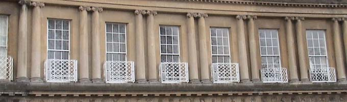Balconies at Bath, royal crescent