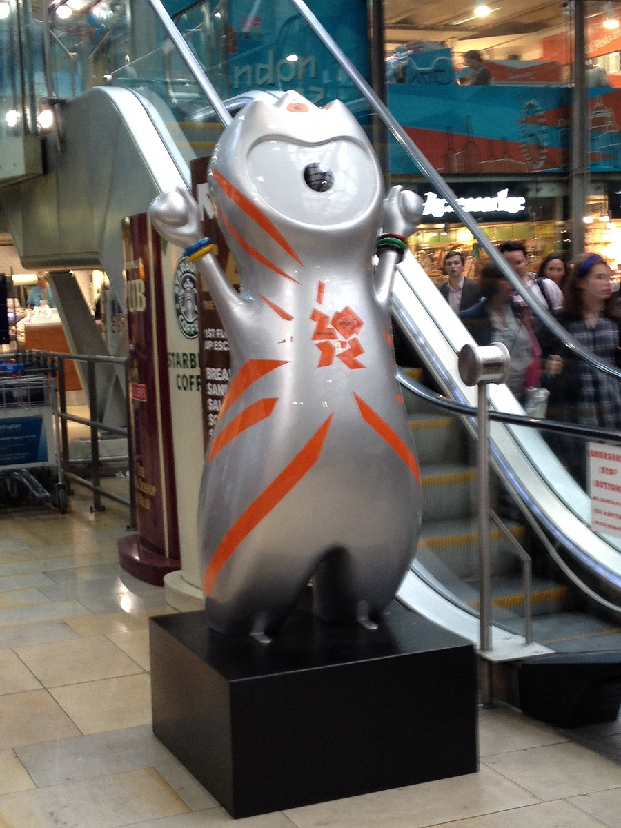 Olympic branding at Paddington