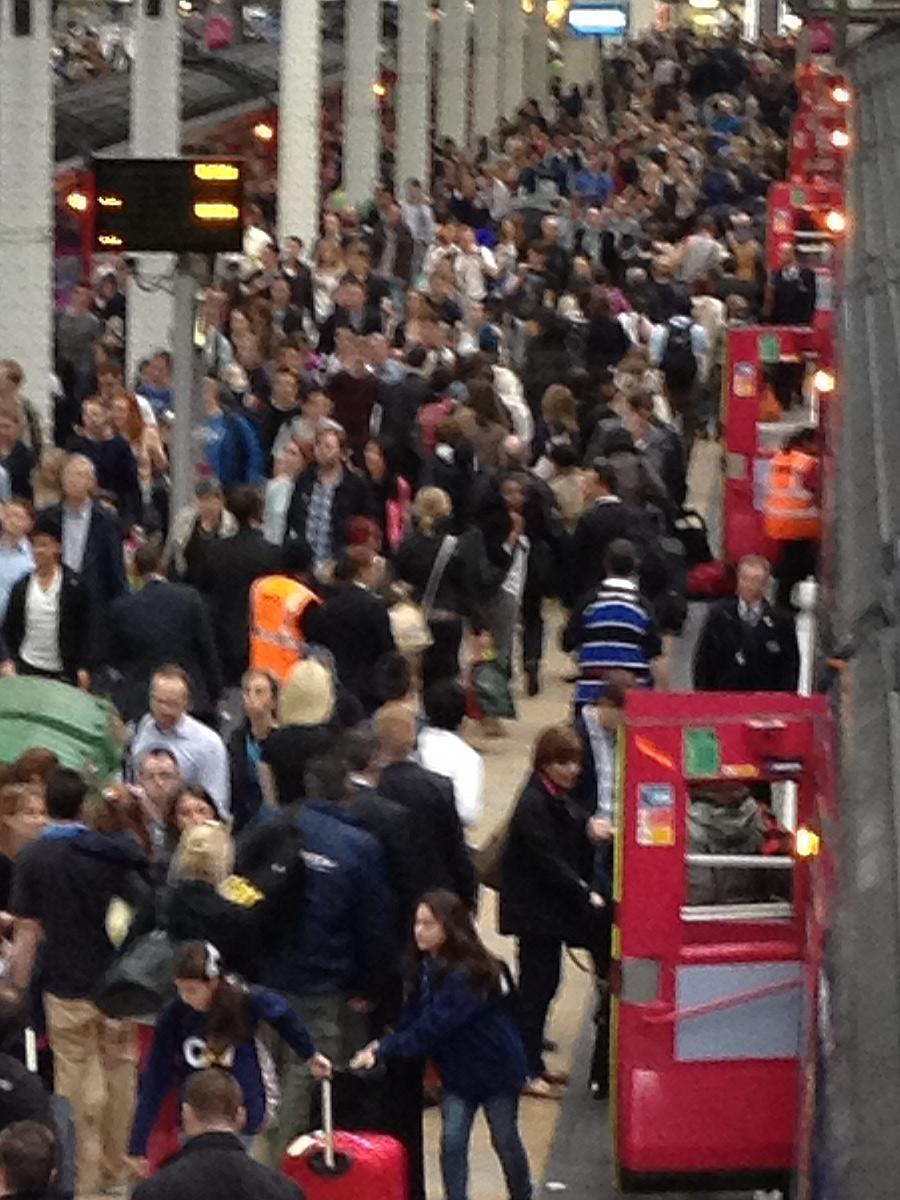 Crowds at Paddington