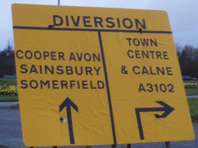 Cooper Avon, Sainsbury, Somerfield, Calne