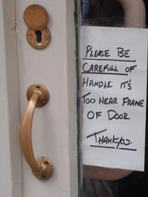 Mind the handle