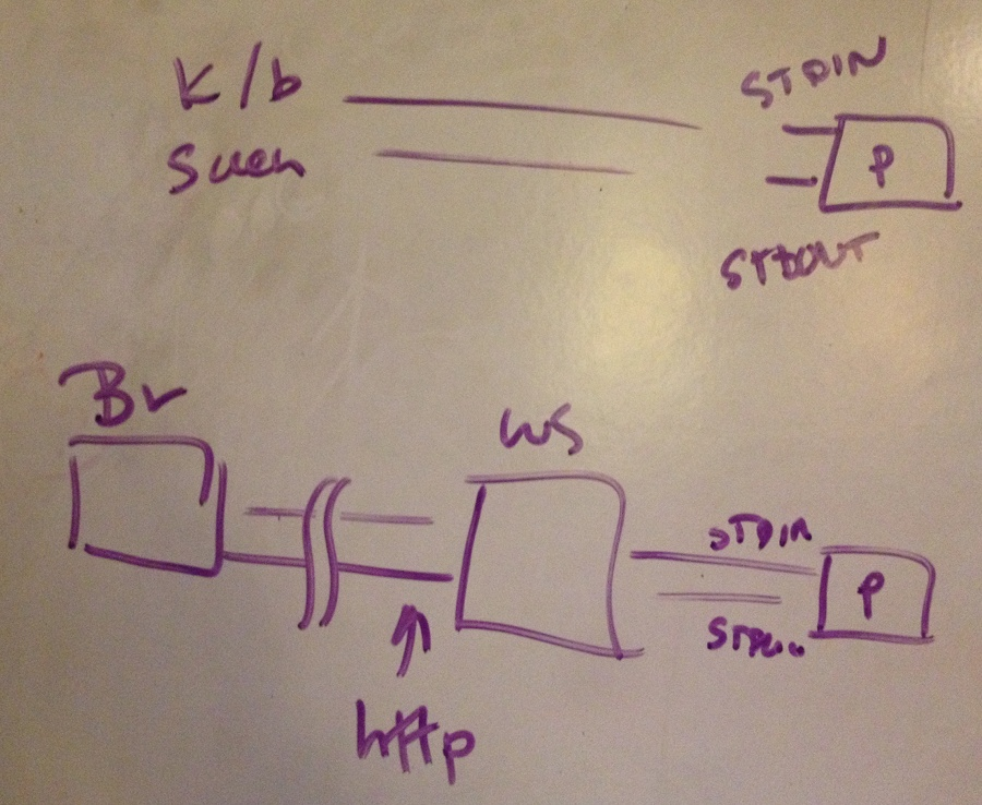 How STDIN and STDOUT can be harnessed through a web server