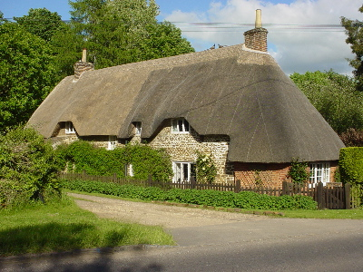 Sandy Lane - a village of thatched cottages