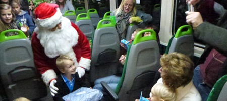 Santa on the Melksham Train