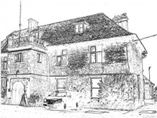 Melksham House line drawing