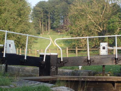 A lock on the canal at Seend