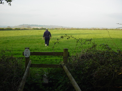 Setting out on a walk over the fields