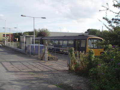 Melksham station, Pacer at the platform